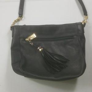 Tignanello black leather hobo shoulder bag
